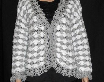 Crochet wool jacket size 38-42