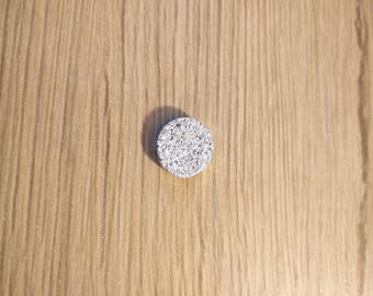 cabochon white stone 12 mm color effect