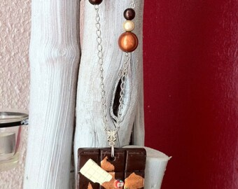 Copper necklace chocolate bar set