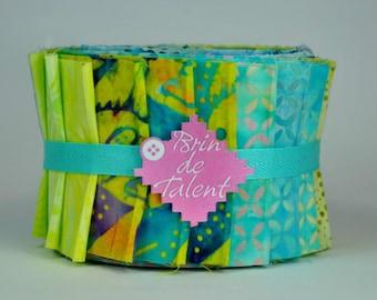 Bali Roll Bora Bora - batik for quilt - Jelly Roll fabric strips