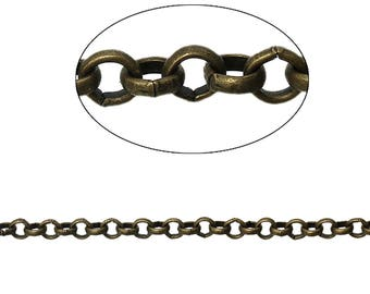 5 m chain round Bronze 3.5 mm - SC74857.