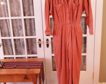 1970's Orange is the New Black Style Women's Jumpsuit