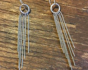 Seven Silver Strand Earrings