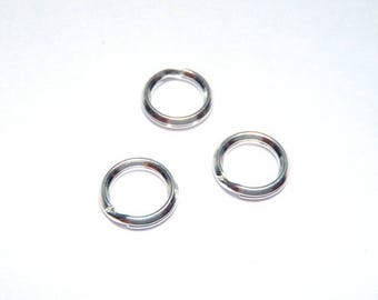 5 double 7 mm 925 sterling silver rings
