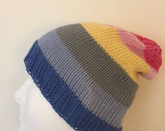 LGBTQ Genderflux Pride Slouchy Beanie Hat