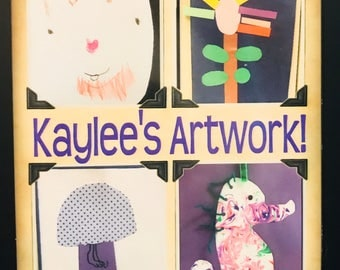 Personalized Artwork Magnet! Display your child's artwork for everyone to see!