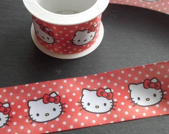 "2 m Ribbon cat ""hello..."" red 40mm"