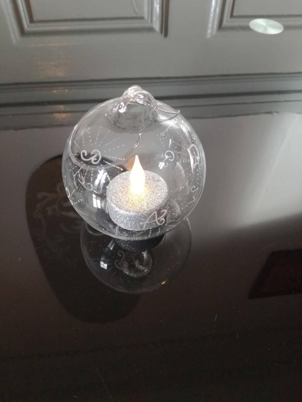 Boule en verre ouverte suspendre de 8 cm personnalis e - Boule en verre ouverte a suspendre ...