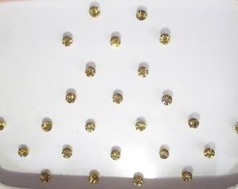 Gold Stone Bindis ,Indian Bindis Sticker,Fake Nose Studs Stickers,Small Stone Stickers, Face Gems Tattoo/indian bindi/bollywood bindi