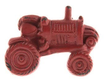 ON SALE Distressed Red Metal Tractor Knob/Knobs/Cabinet Knobs-/Dresser Knobs/Drawer Pulls/Knobs/Shabby Chic/Knob/John Deer Tractor Knob