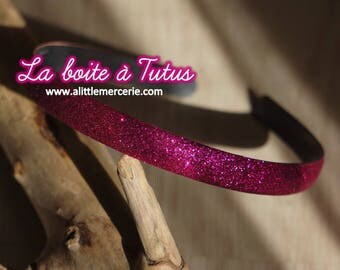 ★ Headband shiny glitter girl woman - hair accessory Fuchsia pink glitter glitter ★