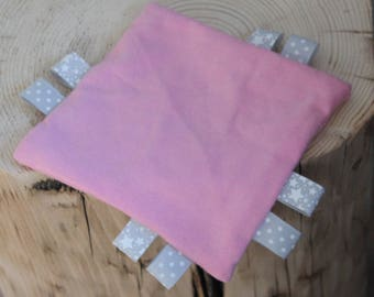 Pink blanket square for a birthday gift