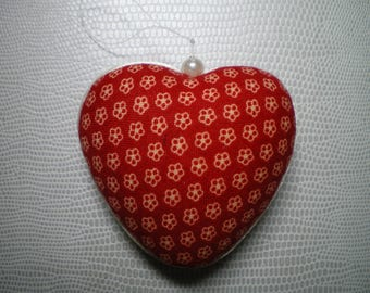 polystyrene and patchwork fabric hanging heart