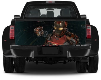 Truck Tailgate Graphics Ironman Tony Stark Vinyl Decal Color Sticker Trunk Wrap