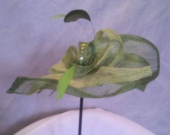 lime green fascinator