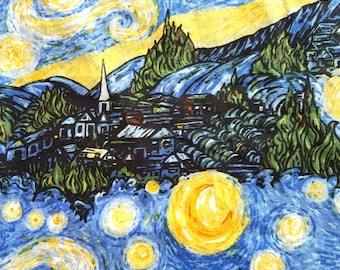 Starry Night Odd Cut Fabric