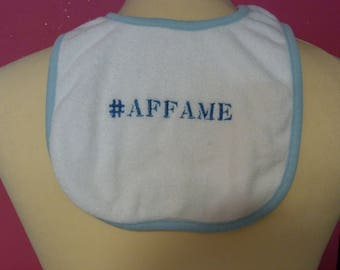 Embroidered bib #affamé
