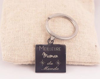 Best MOM Keychain - Key chain personalized engraved mother's day, celebrating mothers