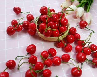 Artificial Cherries / Artificial Fruits / Faux Cherries / Fake Fruit / Food Photography Props (AF3)