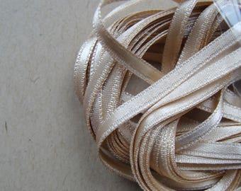 Ribbon satin 3mm wide beige 1 meter