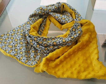Mustard scarf minkee