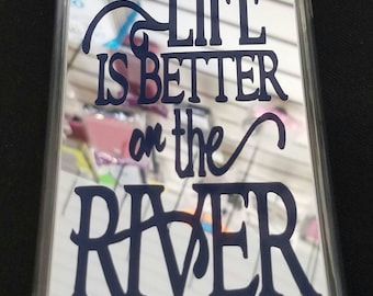 iPhone 7 Plus Custom Case - Life Is Better On The River