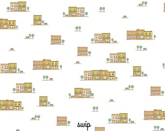"""Wipes-glasses pattern """"downtown"""" - double-sided printing"""