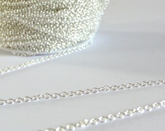 Fine link silver chain 1.5 mm