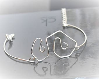 Silver plated wire worked bracelet