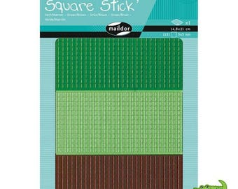 Mosaic Kit 1131 stickers adhesive 5 mm, green and Brown, MAILDOR, child, adult, new