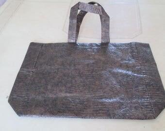 Brown plastic bag