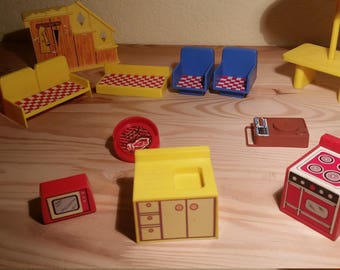 Vintage Plastic Doll Furniture from the 1970s