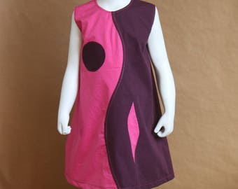 Any hesitation pink and plum - girl dress 4t