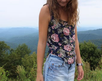 Upcycled Vintage Peony Top