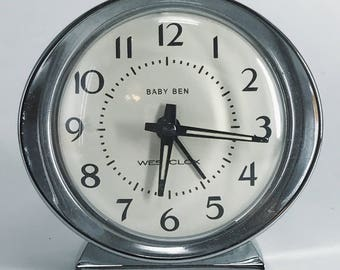 """1950s """"Baby Ben Westclox"""" Alarm Clock"""