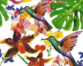 421 birds EXOTIC 1 lunch size paper towel