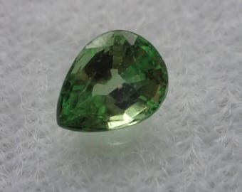 Pear shaped Tsavorite Garnet