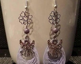 "Earrings ""Angel"" to 6.5 cm"
