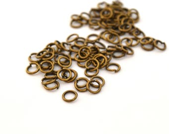 50 rings 5 mm antique bronze metal thickness 0.8 * /APAN0001