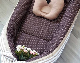 Baby nest Cocon Sleep bed Cot Snuggle nest Baby nest pattern Sleep nest Pod Co sleeper Baby travel Baby pillow Snuggle nest baby shower