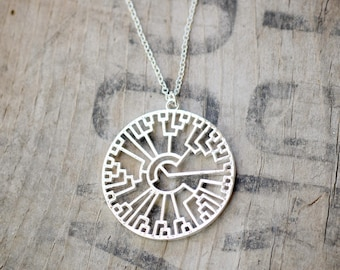 Tree of Life necklace - silver plated - 35 mm (3023)