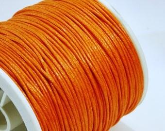 orange 5 m of 1 mm waxed cotton cord