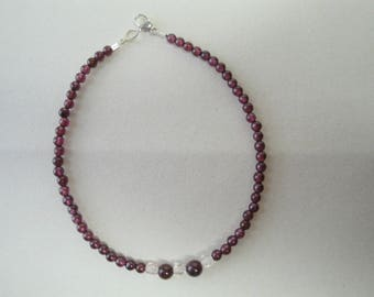 Genuine Garnet beaded bracelet