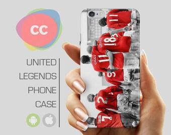 Manchester United Legends Phone Case / iPhone 7 Case / MUFC Man Utd Giggs Scholes  / iPhone 6 Cover / iPhone SE, 5, 5S, 6s, 7 Case - PC-242