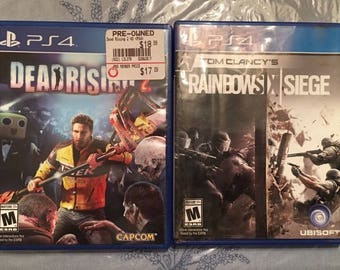 Dead Rising 2 CIB & Rainbow Six Seige CIB VG - Sony PlayStation 4 PS4
