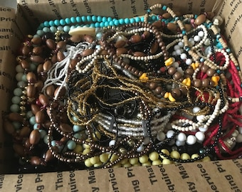 Z 14, Mixed Vintage to now beaded necklaces, assorted lengths and styles.