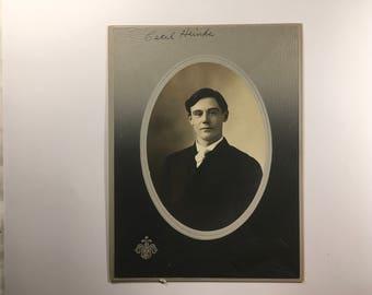 Antique cabinet card type photo, Cecil Heinke, Sullivan Studio, Kendallville, IN