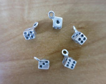 Charm in antique silver