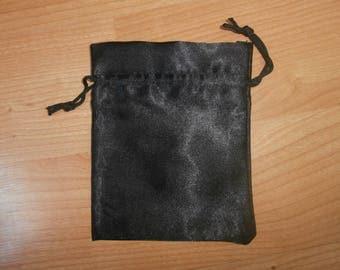 Clutch in black satin 11 x 14 cm for jewelry