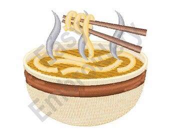 Ramen Noodles - Machine Embroidery Design